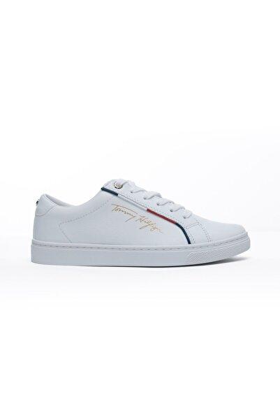 Tommy Hilfiger Signature Kadın Beyaz Spor Ayakkabı