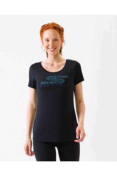 SKECHERS S Logo Tee W03Ts11 Blk Kadın Siyah Tshirt