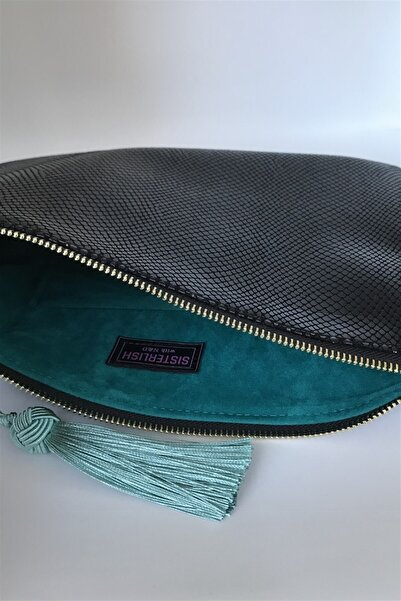Sisterlish With ND Clutch Portföy Sisterlish Exclusive Collection Siyah Mint