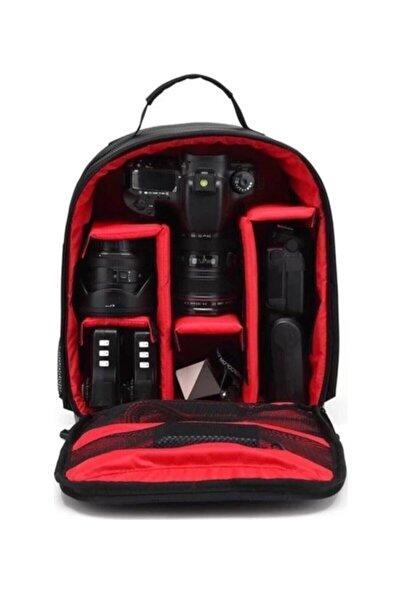 NİKON Canon Fotoğraf Makinesi Profesyonel Çift Askılı Çift Askılı Sırt Çantası
