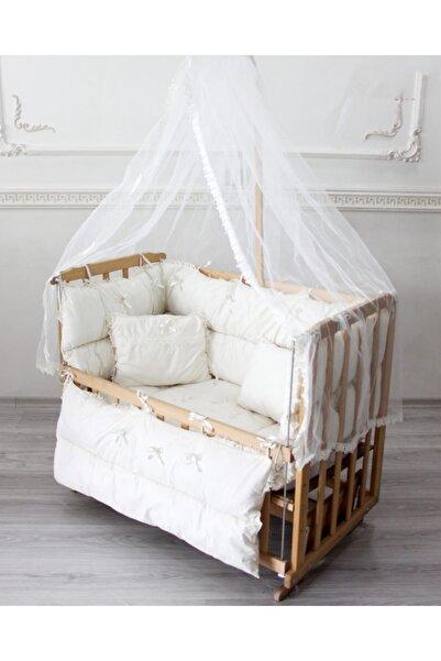 babyen1 Krem Bebek Beşik Uyku Seti Anne Yanı %100 Pamuk