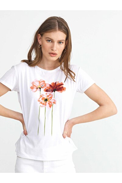 Xint Xınt Yuvarlak Yaka %100 Pamuk Rahat Kesim Baskılı Tişört
