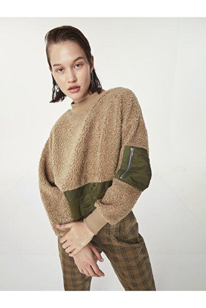 Twist Kumaş Mixli Sweatshirt