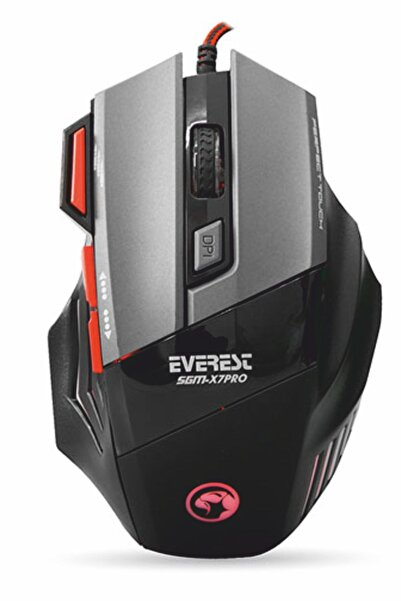 Everest Gaming Pro Usb Siyah Gaming Mouse Pad Ve Oyuncu Mouse