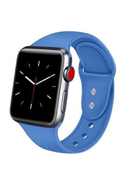 Apple Watch 42 44 Mm Silikon Kordon Kotmavi