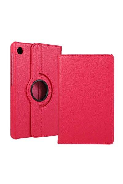 Huawei Matepad T10 Kılıf 360°dönebilen Deri Leather New Style Cover Case(pembe)