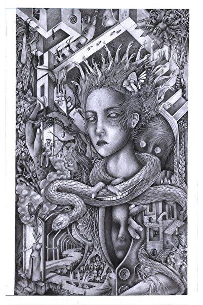 Alaattin Efe Isimsiz, Kağıt Üzerine Karakalem, 35x50 cm