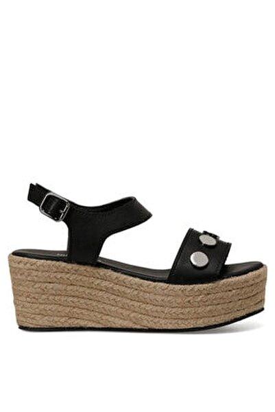 VALADON Siyah Kadın Dolgu Topuklu Sandalet 100526222