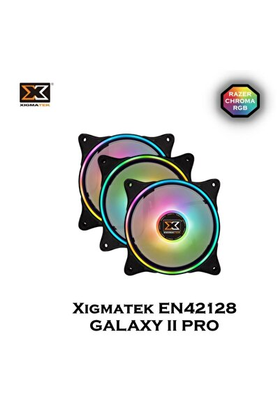 Xigmatek En42128 Galaxy Iı Pro 120*120*25mm 3*at120 Argb Fan Panel+kumandalı Kasa Fan Kiti