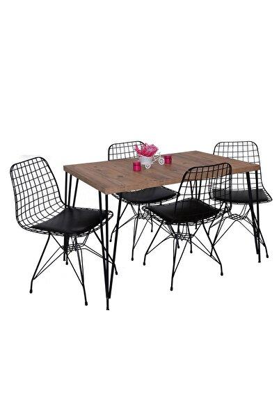 Hedef Masa Sandalye Takımı Yemek Masa Takımı Tel Masa Takımı