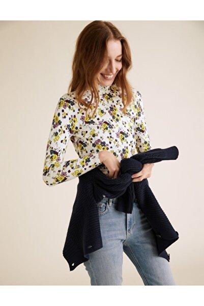 Marks & Spencer Çiçek Desenli Dik Yakalı Bluz