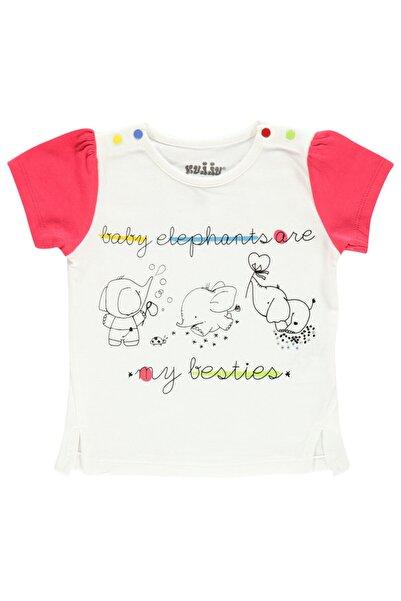 Kujju Kız Bebek Tişört 6-18 Ay Narçiçeği