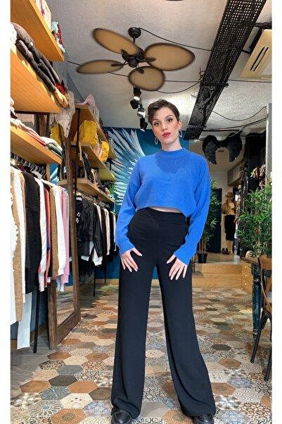 BSL Kadın Yüksek Bel Bol Paça Pantolon