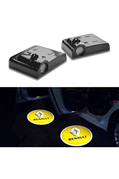 ünlütürkotoaksesuar Renault Kapı Altı Led Logo Pilli 2 Adet