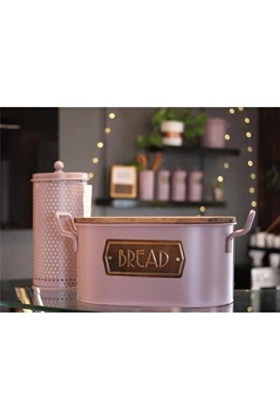 The Mia Rose Gold Galvaniz Ekmek Saklama Kabı