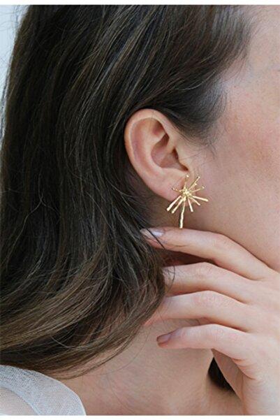 Marjin Kadın Altın Renkli Bohem Tasarım Küpe