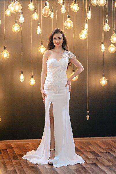 SUARE Kadın Beyaz Nikah Elbisesi