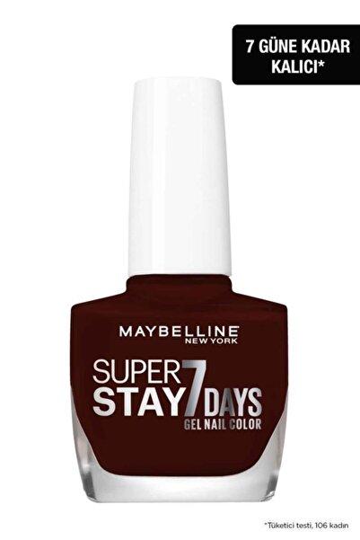 Maybelline New York Super Stay 7 Days Jel Oje 287 Midnight Red (koyu Kırmızı / Bordo)