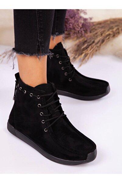 ayakkabıhavuzu Bot - Siyah Süet - Ayakkabı Havuzu