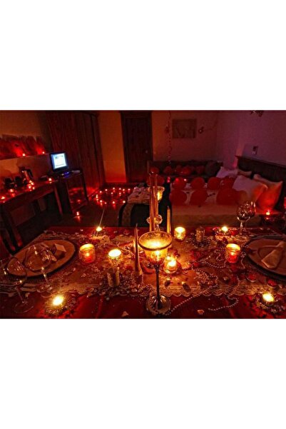 Parti dolabı 700 Kuru Gül Yaprağı 20 Kalp Balon 25 Beyaz Mum Romantik Hediye 14 Şubat Sevgililer Günü Doğum Günü