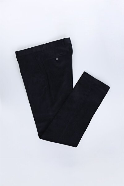 Jakamen Koyu Lacivert Regular Fit Erkek Kadife Pantolon