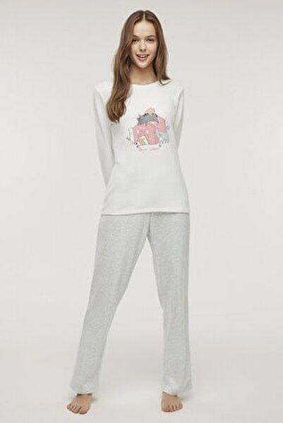 Çok Renkli Pet Love Termal Pijama Takımı