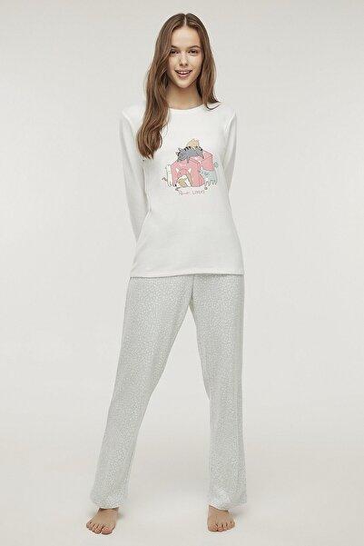 Penti Çok Renkli Pet Love Termal Pijama Takımı