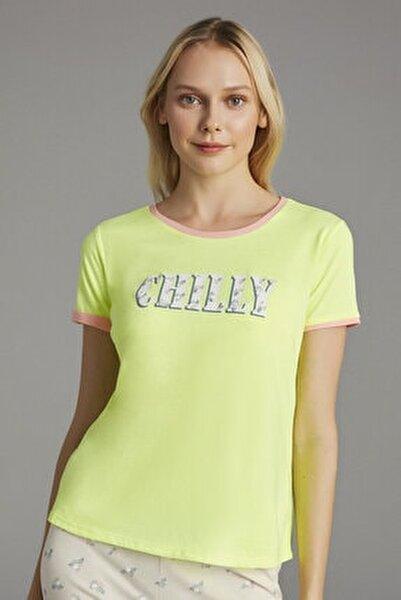 Neon Sarı Chilly Tişört