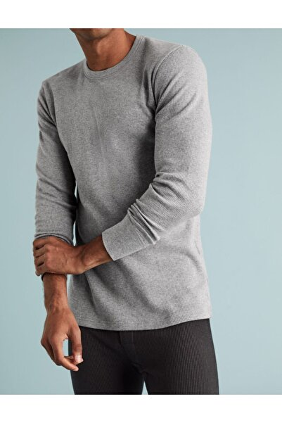 Marks & Spencer Erkek Gri Uzun Kollu Termal Atlet T14008813N