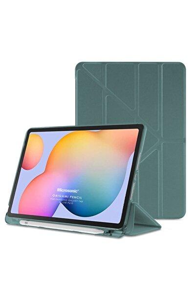 """Microsonic Microsonic Galaxy Tab S6 Lite 10.4"""" P610 Kılıf Origami Pencil Koyu Yeşil"""