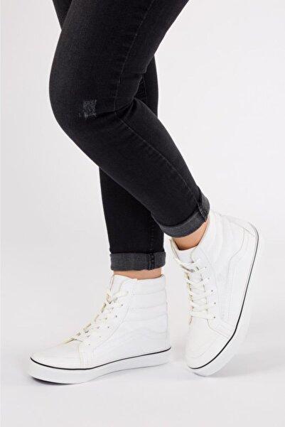 ESPARDİLE Kadın Beyaz Cilt Uzun Günlük Spor Ayakkabı