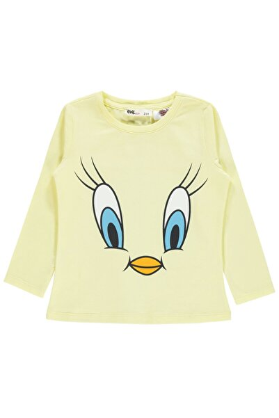 TWEETY Kız Çocuk Sweatshirt 2-5 Yaş Sarı