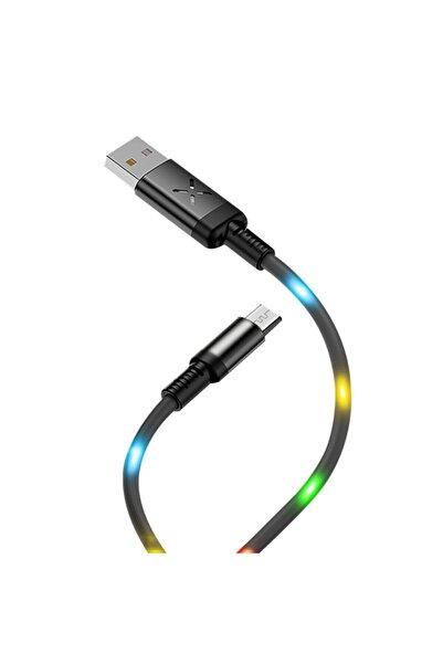 Zipax Casper Vıa A1 Plus Uyumlu Şarj Kablosu Işıklı Micro Usb Dc-09