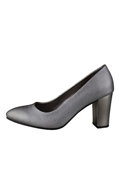 Mammamia Platin Kadın Topuklu Ayakkabı