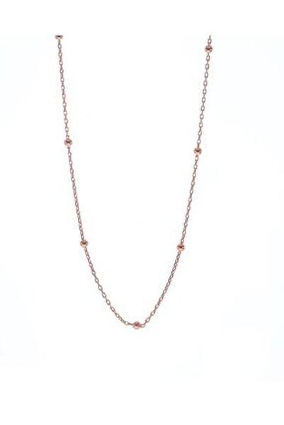 Kadın Rose Gümüş Top Top Zincir 45 cm