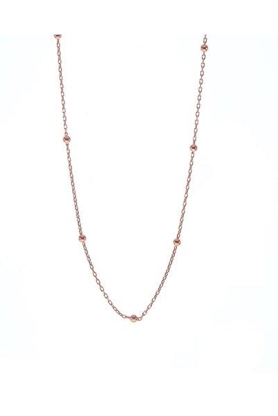 Söğütlü Silver Kadın Rose Gümüş Top Top Zincir 45 cm