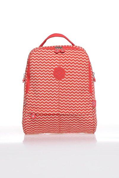 SMART BAGS Smb1117-0134 Kırmızı/bej Kadın Sırt Çantası
