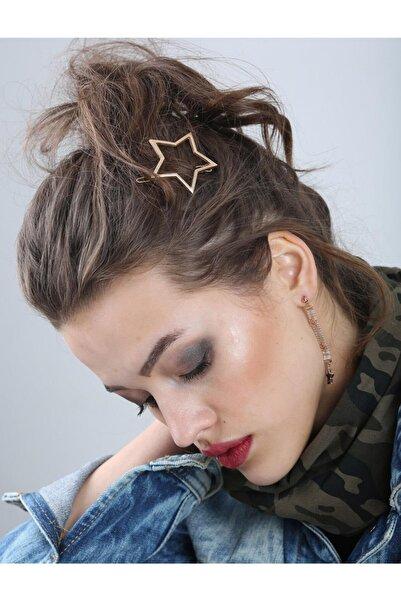 New Obsessions Rose Star Shape Klipsli Toka