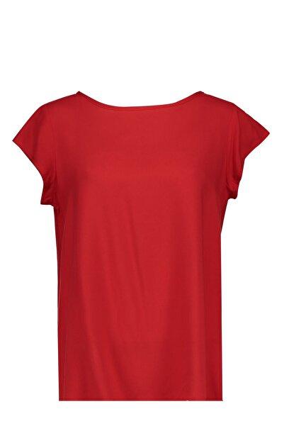 Collezione Kırmızı Arkası Uzun Basic Kadın Bluz