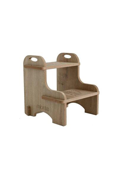 Mionte Flat-Pack Ahşap Çocuk Montessori Yükseltici Basamak Meşe