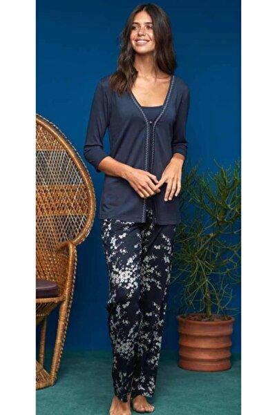 Penyemood Penye Mood 8615 Kadın Pijama Takım 3 Parça Laciver