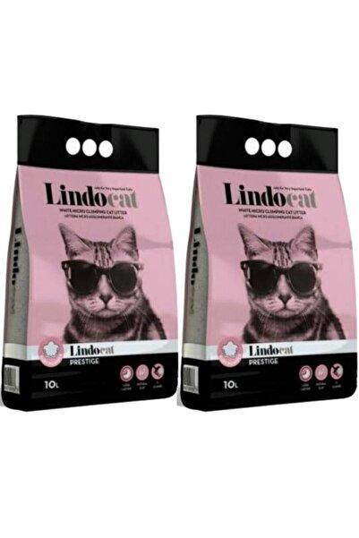 Lindo Cat Lindocat Pudra Kokulu Parfümlü Bentonit Topaklanan Ince Taneli Kedi Kumu 10 Lt 2 Adet