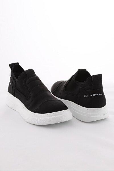 Arlin Erkek Kalın Taban Bilekte Lastikli Siyah Beyaz Spor Ayakkabı