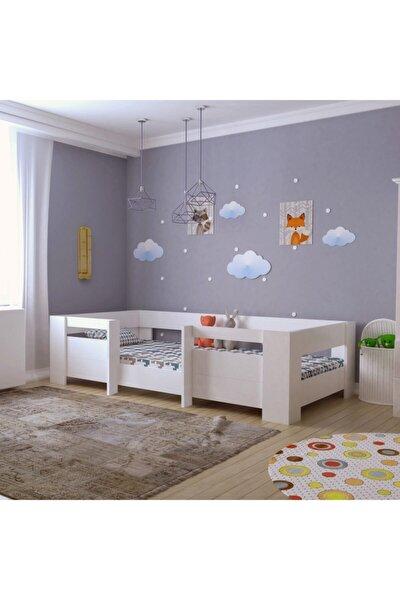 Myniture Ninnimo Bebek Odası Yatağı Montessori Mdf Karyola Beyaz M5-beyaz- 90x190 Yatak Uyumlu - Y 1018 Plus