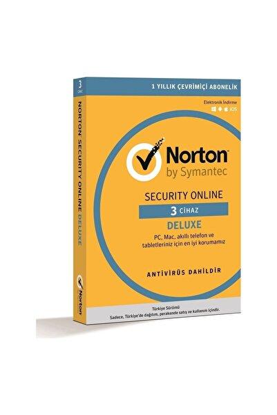 Norton Internet Securıty Onlıne Deluxe 3.0 Türkçe - 3 Cihaz-kullanıcı 1 Yıl