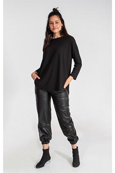 Collezione Sıyah Kadın Örme Tshirt