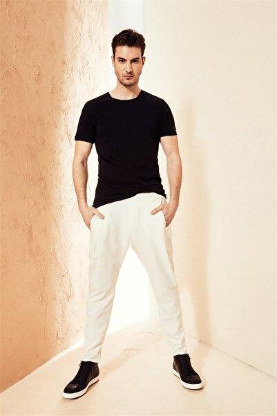 Efor Atp 08 Slim Fit Beyaz Spor Pantolon