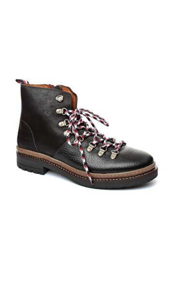 Tommy Hilfiger Siyah Erkek Outdoor Bot Fm0fm01911 990 Tommy Hılfıger Elevated Outdoor Hıkıng Boot Bl