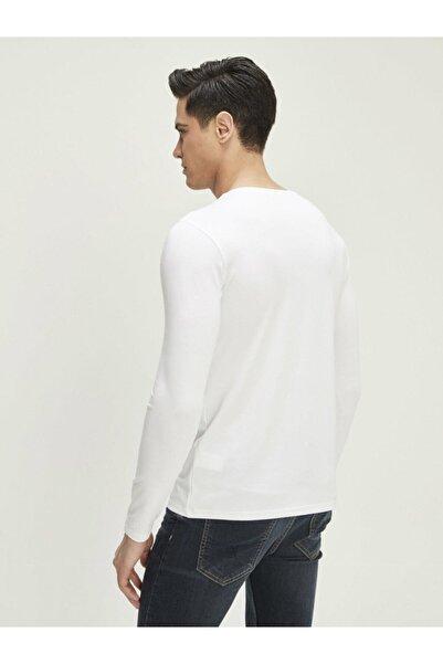 Xint Xınt V Yaka Modal Uzun Kollu Basic Tişört