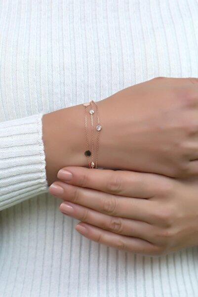 Sümer Telkari Rose Gümüş Pullu Tasarım Bileklik 2379
